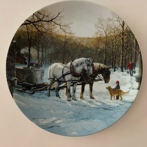 Maple Sugar Season by Persis Weirs rare Art plate